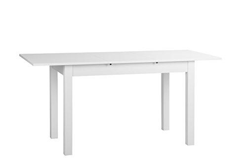 001288 Auszugstisch - Esstisch Burgi, 140-180 x 76,5 x 70 cm, dekor weiß