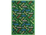 "Joy Carpets Playful Patterns Children's Crayons Area Rug, Green, 5'4"" x 7'8"""