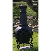 Outdoor-Chimenea-Fireplace-Gatsby-in-Charcoal-Finish-Gas-Fueled