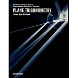 img - for Student Solutions Manual to accompany Plane Trigonometry book / textbook / text book