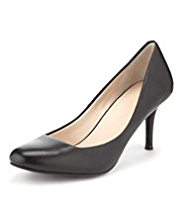 Autograph Leather Mid Heel Court Shoes with Insolia®