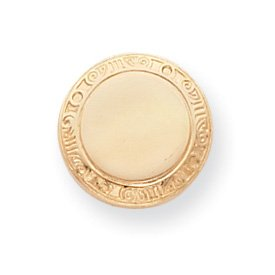 Gold-plated Round Tie Tack - JewelryWeb