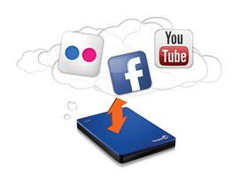 Share videos on YouTube, and back up photos and videos you've posted on Facebook and Flickr