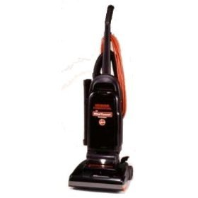 Hoover Commercial Windtunnel Bag-Style Upright Vacuum, 17 Lb, Black/Safety Orange