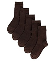 5 Pairs of Freshfeet™ Cotton Rich School Socks
