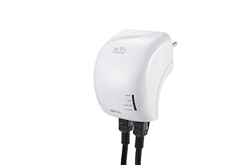 AC750 Dual Band WLAN Repeater | 433 Mbit/s Wireless AC (5 GHz) + 300 Mbit/s Wireless N (2,4 GHz) | 3x Betriebsmodi (Repeater, Access Point, Router) | Wifi 2,4 GHz + 5 GHz | 802.11 a/b/g/n/ac | WPA2, WPA und WEP (128/64) | Reset + WPS-Taste