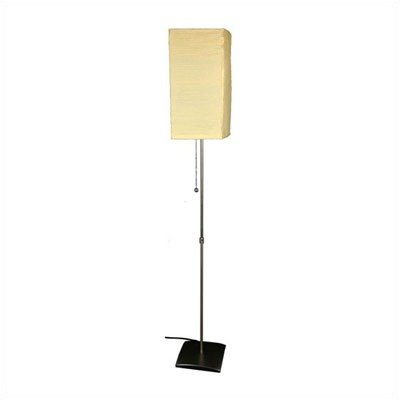 Oriental Furniture Best Better Inexpensive Cheap Lighting, 60-Inch Yoko Contemporary Japanese Style Floor Lamp, Beige front-205264