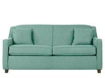 Halston sofa bed aqua fold out fixed cover fabric sofa for Sofa bed amazon uk