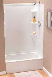 rv shower stall full tub size 24 x 40 x 56 parchment