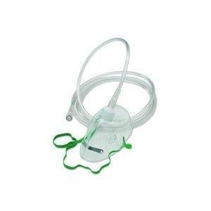 Un masque à oxygène de qualité avec pince-nez et tubes (NHS Standard UK)