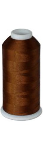 12-cone Commercial Polyester Embroidery Thread Kit -Chocolate Brown P877 - 5500 yards - 40wt