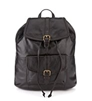 M&S Collection Leather Buckle Rucksack