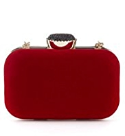 M&S Collection Gem Velvet Clutch