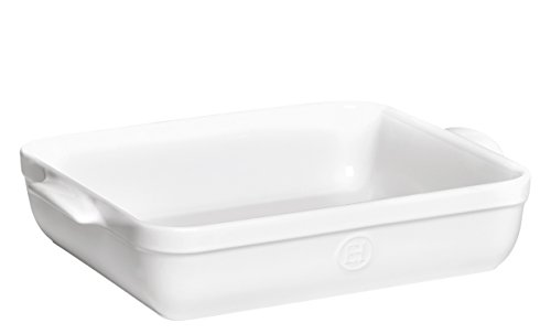 Emile Henry Made In France 16.7 by 11-Inch Roaster, Flour White (Large Ceramic Baking Pan compare prices)