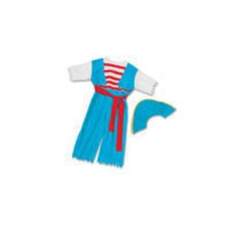 Dora the Explorer Dress Up Pirate Costume with blue Pirate Hat