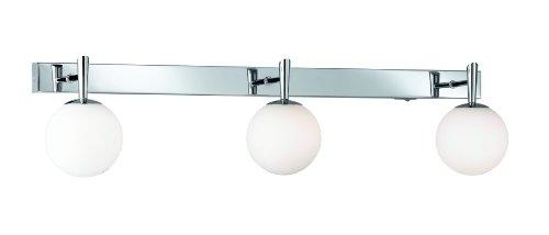 Trio-Leuchten 8801231-06 Halogen-Balken 3x40W G9 mit Schalter chrom Glas opal weiß