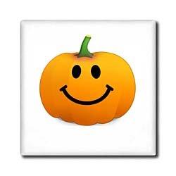 Smiley face on white cute happy halloween jack o lantern cartoon