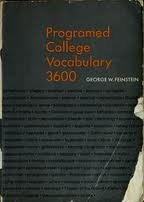 Programed college vocabulary 3600 (Programed College Vocabulary compare prices)