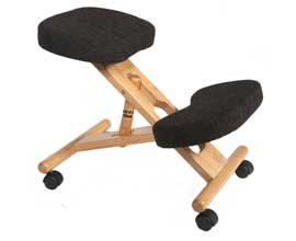 Wooden Posture Kneeling Fabric Chair Charcoal - Color: Charcoal