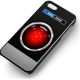HAL 9000 for Iphone 6 and Iphone 6s Case (Black Rubber Case)