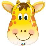 PIONEER BALLOON COMPANY 16095 Jolly Giraffe Balloon Pack, 32""