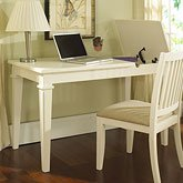 Buy Low Price Comfortable Computer Desk by Samuel Lawrence – Winter White (8110-414) (B004SWHSVU)