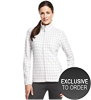 M&S Collection Houndstooth Print Fleece Sweat Top