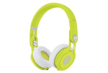 Beats by Dr. Dre Mixr Deep Bass Response Lightweight DJ Over-ear Headphones (Yellow)
