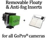 Removable Floaty + Anti-Fog Inserts compatible with all GoPro® HERO® cameras by The Accessory Pro