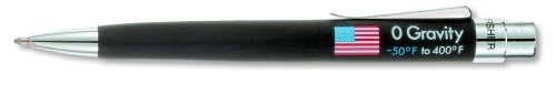 Fisher Space Pen, Zero Gravity Space Pen With U.S. Flag Imprint, Black Rubber Finish (Zg)
