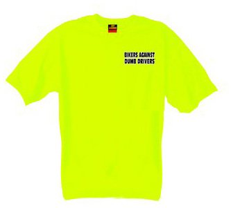 Hot Leathers Can You See Me Now Asshole T-Shirt (Safety Green, Medium)