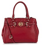 Michael Kors Hudson Large Leather Tote, Red