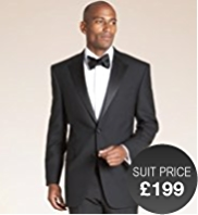 Big & Tall Sartorial Pure Wool 2 Button Dinner Jacket