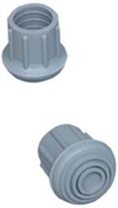 """Mabis Walker/Cane/Commode Replacement Tips, Gray, #21, 1-1/8""""; 4/Box 519-1374-9504"""