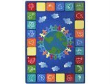 "Joy Carpets Kid Essentials Geography & Environment One World Rug, Primary, 5'4"" x 7'8"" - 1"
