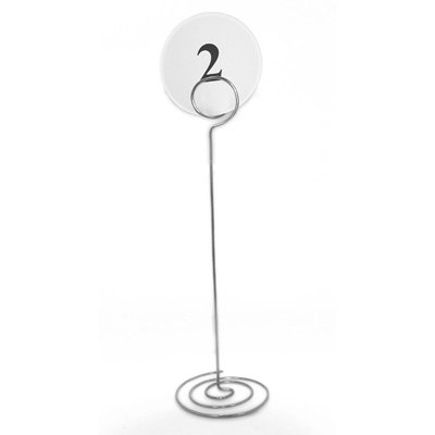 Round Swirl Table Number Holders - Pack of 12 (XTNHR)