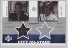 Michael Vick, Andruw Jones Atlanta Braves, Atlanta Falcons (Trading Card) 2003 Upper... by Upper Deck UD Superstars