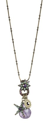 Amaro Jewelry Studio 'Eternity' Collection Star and Sun Charms Pendant Crafted with Amethyst, Cape Amethyst, Aventurine, Labradorite and Swarovski Crystals