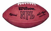 Wilson Official NFL Leather Full Size Football - F1006 - 1977-1990 - Commissioner Pete Rozelle