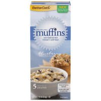 Better Oats mmmMuffins Old Fashion Instant Oatmeal, Blueberry Flavor, 5 Pouches per 7.55-oz. Box (Pack of 3 Boxes)