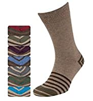7 Pairs of Freshfeet™ Cotton Rich Striped Socks with Silver Technology