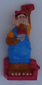 Alf Vinyl Figure 1990 From Wendy`s Kid Meal Brick Layer - 1