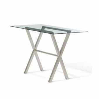 Amisco Andre Rectangular Glass Top Bar Table