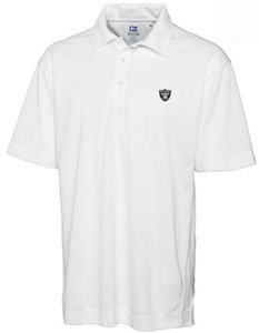 Oakland Raiders Mens Drytec Genre Polo White by Cutter & Buck