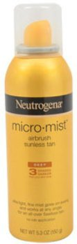 Unisex Neutrogena Micro Mist Air Brush Sunless Tan Deep 3 Shades Darker Spray 1 pcs sku# 1790569MA by Neutrogena