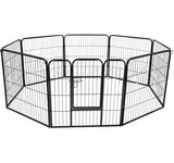 "Pawhut 32"" 8 Panel Heavy Duty Pet Dog Portable Exercise Playpen"