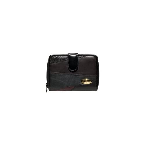 LADIES LEATHER PATCHWORK PURSE NOTECASE (4812)