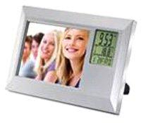 Horloge de Bureau - KC7131 - Seba - Quartz Digitale - Cadre Photo - Calendrier - Température en Abs - 21x13x2 cm