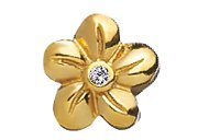 Lovelinks® by Aagaard - 14K Gold Plated Sterling Silver 5 Petal Flower Bead with CZ Crystals
