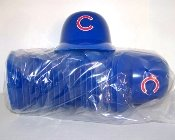 MLB Chicago Cubs Mini Batting Helmet Ice Cream Snack Bowls- Pack of 20 by Rawlings